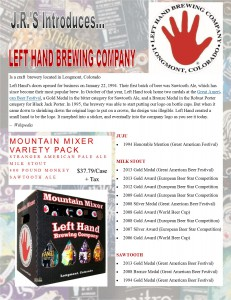 Left Hand Newsletter
