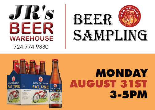 New Belgium's Fat Tire Amber Ale Sampling @ JR's Beer Warehouse  | Seattle | Washington | United States